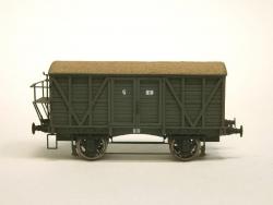 Box Car G (1:87 H0) -Scale Model. With Brakemans Platform