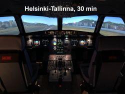 Lahjakortti Airbus A320-simulaattoriin, Helsinki-Tallinna -lento, kesto 30 min