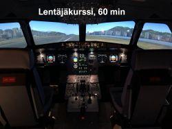 Lahjakortti Airbus A320-simulaattoriin Lentäjäkurssi, kesto 60 min