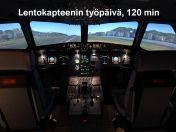 Lahjakortti Airbus A320 simulaattoriin Lentokapteenin työpäivä, kesto 120 min
