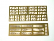 Enamel Numbers and Letters 1 for 1:87 H0 Models