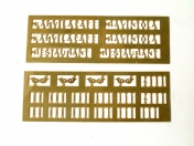 Enamel Numbers and Letters 2 for 1:87 H0 Models
