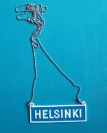 Liikennemerkki -kaulakoru Helsinki
