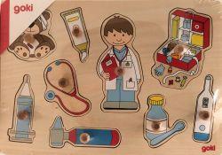 Lasten puinen nuppipalapeli
