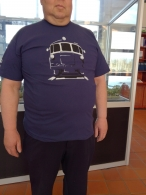 "T-shirt, blue ""Rail Car"""