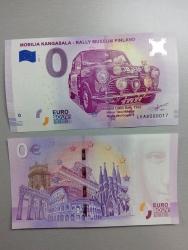 0€ banknote Morris Mini Cooper S/ Timo Mäkinen