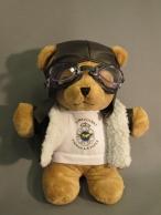 Large pilot teddy bear
