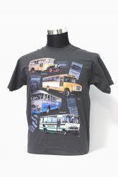 Linja-autoaiheinen t-paita