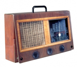 Radio briefcase (cardboard)
