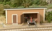 Trolley Shed (1:87 H0) -scale model