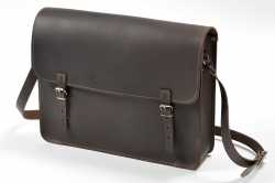 Postman leather briefcase