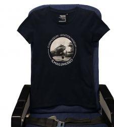 Ilmailumuseon naisten t-paita, sininen