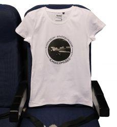 Ilmailumuseon naisten t-paita, valkoinen